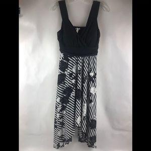 Soma Dress Asymmetrical Hem Black Sz S
